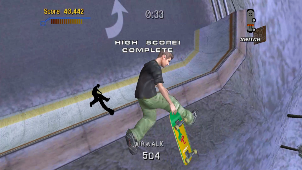 Challenge Tony Hawk's Pro Skater produttività