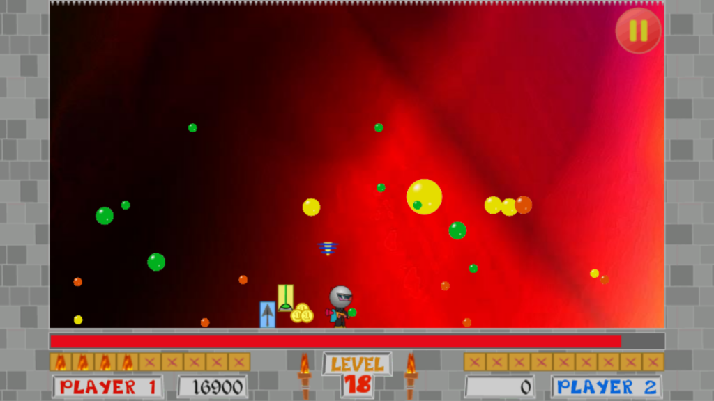 Bubble Trouble, livello 18, risolvere i problemi