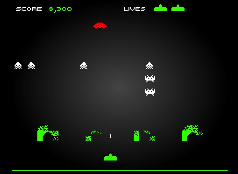 Space Invaders motivazione - abbattere la navetta