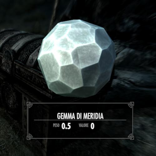 Skyrim gemma di Meridia